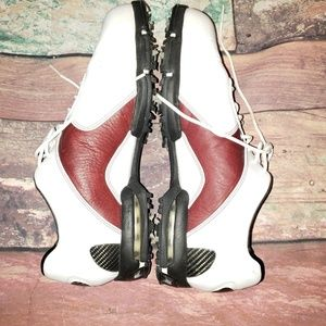 Nike Shoes - Nike Tiger Woods White Burgundy Golf Cleats